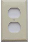 Duplex Receptacle Plastic Wall plate