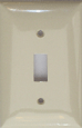 Toggle Switch Plastic Plate - One Gang