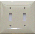 Toggle Switch Plastic Plate - Two Gang