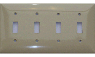 Toggle Switch Plastic Plate - Four Gang