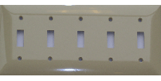 Toggle Switch Plastic Plate - Five Gang