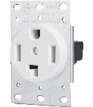 30A Dryer/Range Receptacle - Rectangle