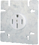 50A Dryer / Range Receptacle - Square