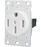 50A Dryer / Range Receptacle - Rectangle