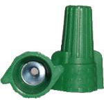 Item: WWN-GR Winged Green Easy Twist - Grounding, 22-14 AWG, Qty: 500 per bag, 10 Bags/Case